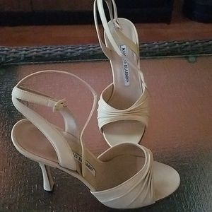 Cream Manolo Blahnik heels